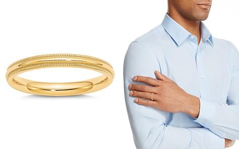 Bloomingdale's Men's 3mm Milgrain Comfort Fit Wedding Band 14K Yellow Gold - 100% Exclusive_2
