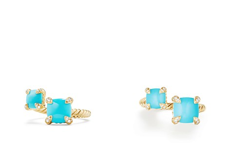 David Yurman Châtelaine Bypass Ring with Turquoise & Diamonds in 18K Gold - Bloomingdale's_2