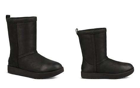 UGG® Women's Classic Short Waterproof Leather & Sheepskin Booties - Bloomingdale's_2