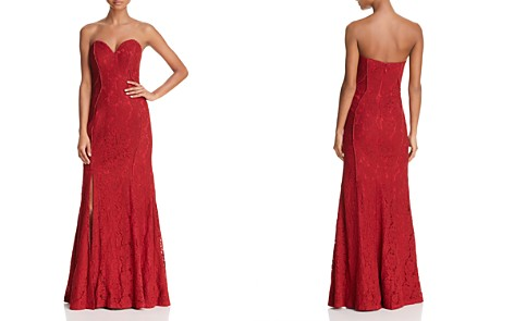 Bariano Strapless Chantilly Lace Gown - Bloomingdale's_2