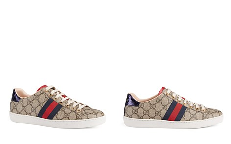 Gucci Women's Ace GG Supreme Canvas Low Top Lace Up Sneakers - Bloomingdale's_2