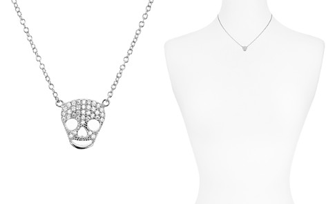"""AQUA Sterling Silver Skull Pendant Necklace, 15"""" - 100% Exclusive - Bloomingdale's_2"""