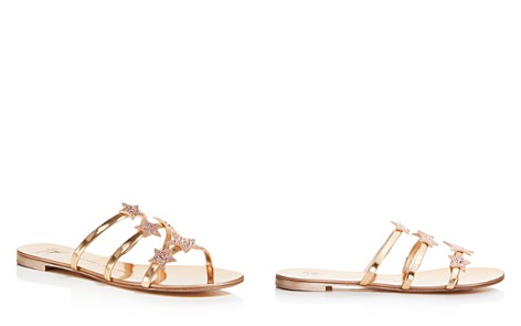 Giuseppe Zanotti Women's Shooting Star Swarovski Crystal Embellished Leather Slide Sandals - Bloomingdale's_2