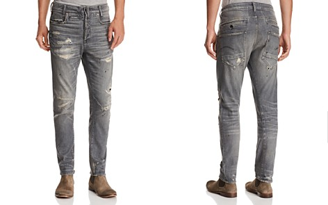 G-STAR RAW D-Staq 3D Super Slim Fit Jeans in Medium Aged Restored - Bloomingdale's_2