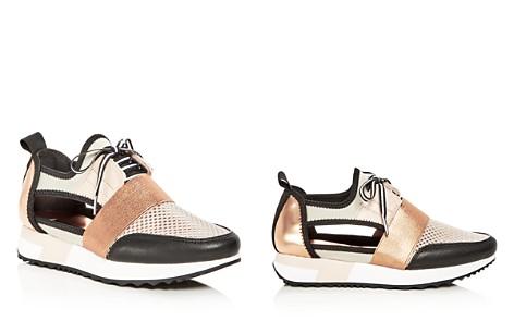 AQUA Women's Jasper Mixed Media Lace Up Sneakers - 100% Exclusive - Bloomingdale's_2