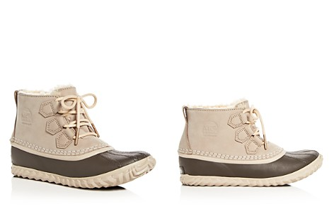 Sorel Women's Out 'n About Waterproof Nubuck Leather & Shearling Cold Weather Booties - Bloomingdale's_2