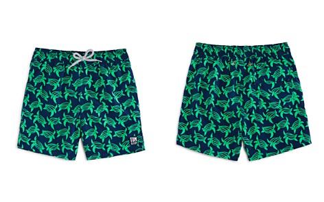 TOM & TEDDY Boys' Turtle Print Swim Trunks - Big Kid - Bloomingdale's_2