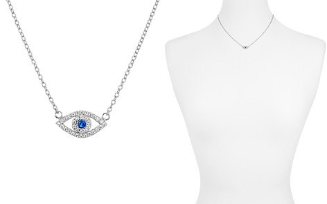 "AQUA Sterling Silver Evil Eye Pendant Necklace, 15"" - 100% Exclusive - Bloomingdale's_2"