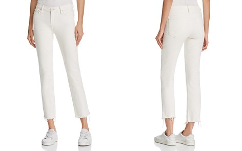 MOTHER The Rascal Ankle Snippet Jeans in Whipping the Cream - Bloomingdale's_2