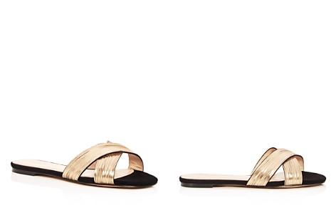 Botkier Women's Millie Chain Embellished Suede Crisscross Slide Sandals - Bloomingdale's_2