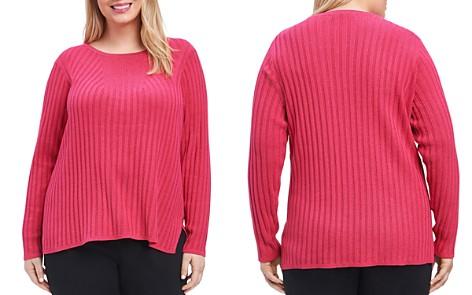 Foxcroft Plus Mindy Metallic Ribbed Sweater - Bloomingdale's_2
