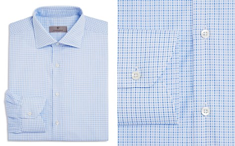 Canali Check Regular Fit Dress Shirt - Bloomingdale's_2