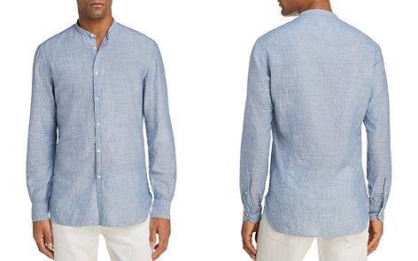 Eidos Thin Stripe Washed Regular Fit Button-Down Shirt - Bloomingdale's_2