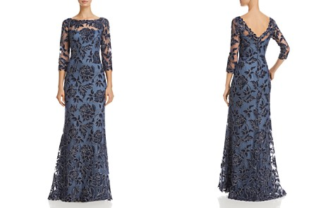 Tadashi Shoji Embroidered Lace Gown - Bloomingdale's_2