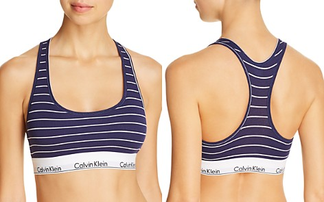 Calvin Klein Modern Cotton Ribbed Striped Bralette - Bloomingdale's_2