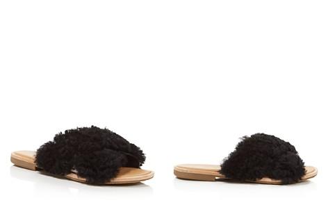 UGG® Women's Joni Lamb Fur Crisscross Slide Sandals - Bloomingdale's_2