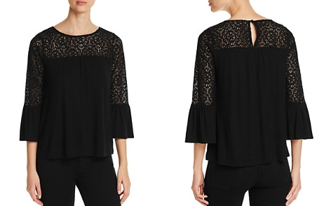 Design History Lace-Trimmed Bell-Sleeve Top - Bloomingdale's_2