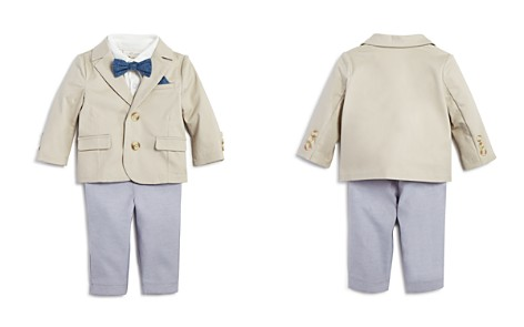 Miniclasix Boys' Blazer, Polo Shirt & Pants Set with Removable Bow Tie - Baby - Bloomingdale's_2
