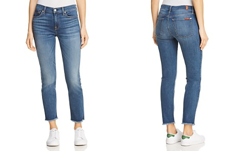 7 For All Mankind Roxanne Ankle Fray-Hem Jeans in B(air) Vintage Dusk - Bloomingdale's_2
