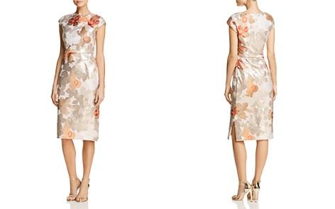 PAULE KA Floral Jacquard Sheath Dress - Bloomingdale's_2