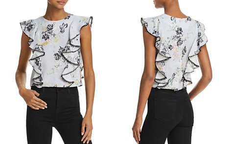 Karina Grimaldi Olivia Ruffled Floral-Print Top - Bloomingdale's_2