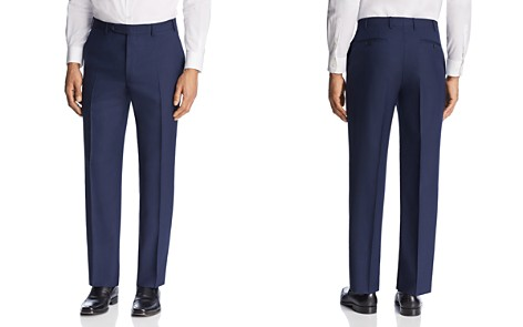 Canali Solid Micro Box Weave Regular Fit Dress Pants - Bloomingdale's_2