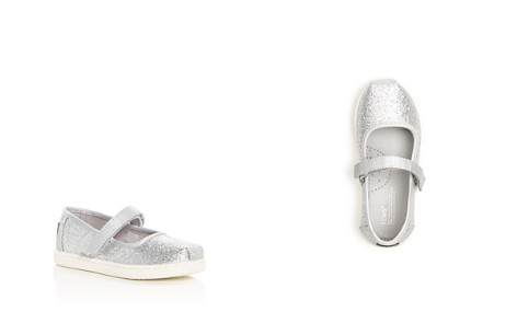 TOMS Girls' Glimmer Glitter Mary Jane Flats - Baby, Walker, Toddler - Bloomingdale's_2