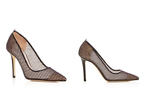 SJP by Sarah Jessica Parker Women's Fawn Fishnet Pointed Toe Pumps - Bloomingdale's_2