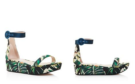 Stuart Weitzman Women's Capri Printed Jacquard Platform Ankle Strap Sandals - 100% Exclusive - Bloomingdale's_2