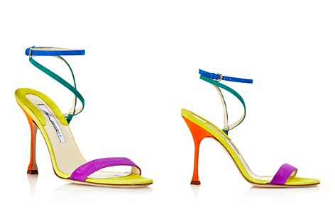 Brian Atwood Women's Sienna Suede Color-Block Ankle Strap Sandals - Bloomingdale's_2