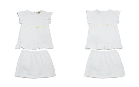 Armani Junior Girls' Bird-Print Logo Top & Skirt with Bloomers Set - Baby - Bloomingdale's_2