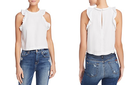 Bella Dahl Ruffled Cropped Tank - Bloomingdale's_2