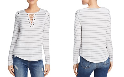 Generation Love Viv Lace-Up Striped Tee - 100% Exclusive - Bloomingdale's_2