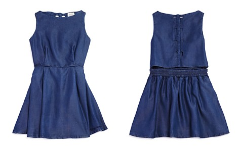 Armani Junior Girls' Sleeveless Denim Dress with Back Heart Cutouts - Big Kid - Bloomingdale's_2