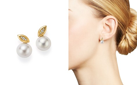 IPPOLITA 18K Yellow Gold Nova Cultured Freshwater Pearl & Diamond Stud Earrings - Bloomingdale's_2