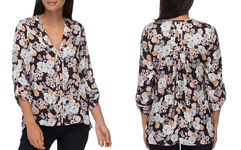 B Collection by Bobeau Cristy Floral-Print Pleat-Back Top - Bloomingdale's_2
