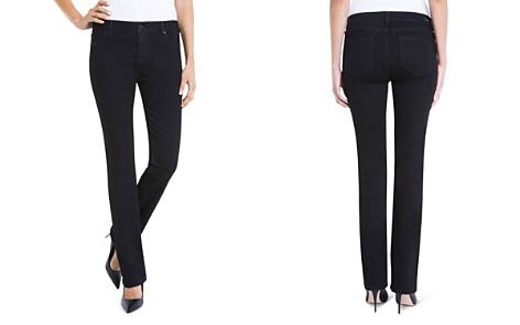 Liverpool Saide Straight-Leg Jeans in Black - Bloomingdale's_2