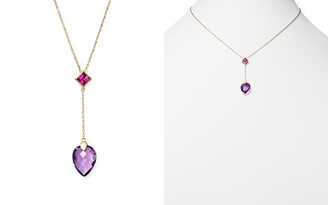"Olivia B 14K Yellow Gold Faceted Amethyst & Rhodolite Garnet Y Necklace, 15"" - 100% Exclusive - Bloomingdale's_2"