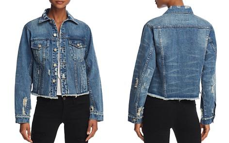 PAM & GELA Distressed Denim Jacket - 100% Exclusive - Bloomingdale's_2