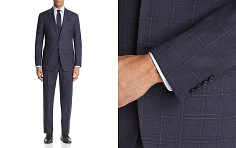 Emporio Armani Large Check Regular Fit Suit - Bloomingdale's_2
