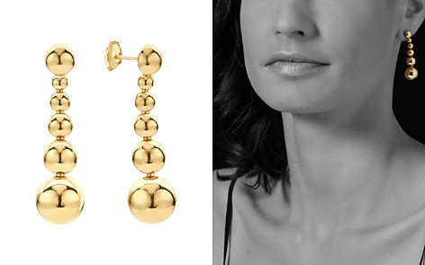 LAGOS Caviar Gold Collection 18K Gold Graduated Six Bead Drop Earrings - Bloomingdale's_2