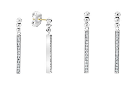 LAGOS Sterling Silver Caviar Spark Diamond Drop Earrings - Bloomingdale's_2