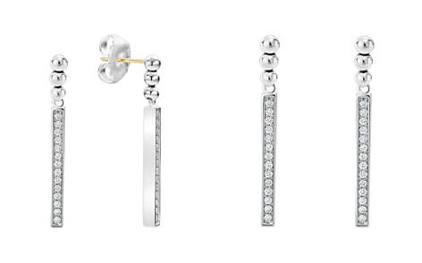 LAGOS Sterling Silver Caviar Spark Diamond Drop Earrings - Bloomingdale's_2