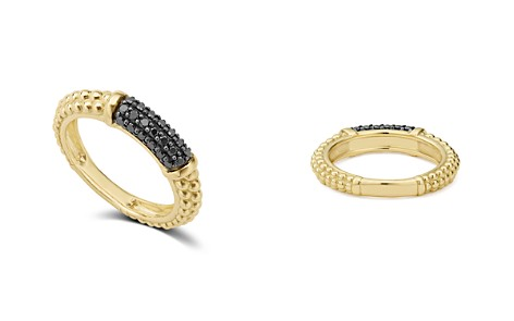 LAGOS Gold & Black Caviar Collection 18K Gold & Black Diamond Ring - Bloomingdale's_2