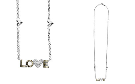 "LAGOS 18K Gold & Sterling Silver Beloved Diamond Love Pendant Necklace, 16"" - Bloomingdale's_2"
