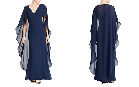 Lauren Ralph Lauren Ruffled Cape Gown - 100% Exclusive - Bloomingdale's_2