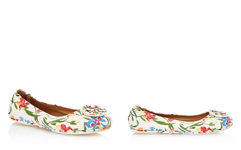 Tory Burch Women's Minnie Floral Print Leather Travel Ballet Flats - Bloomingdale's_2