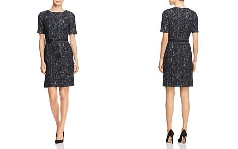 BOSS Deleara Plissé Belted Sheath Dress - Bloomingdale's_2