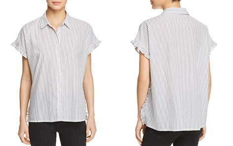 BeachLunchLounge Pancho Striped Ruffle Sleeve Shirt - Bloomingdale's_2
