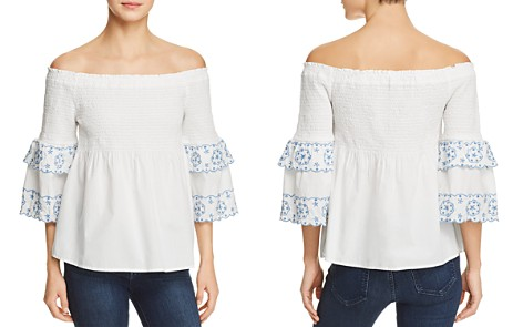 BeachLunchLounge Smocked Off-the-Shoulder Top - Bloomingdale's_2